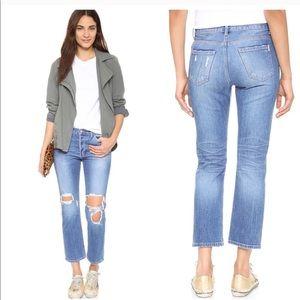 SIWY Jane B. Distressed Big Rig Cropped Jeans